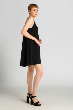 milly-swing-flare-dress-black