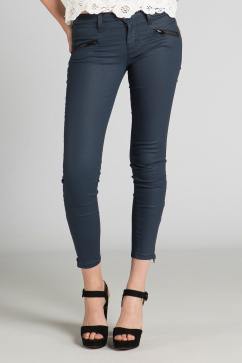 current-elliott-the-soho-zip-stiletto-navy-coated-jean-pantolon-indigo