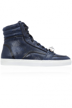 markus-lupfer-black-embossed-leather-hi-top-sneakers-black