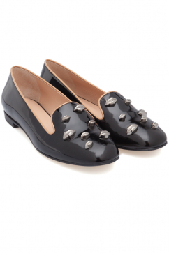 markus-lupfer-black-patent-leather-gunmetal-lips-flats-black