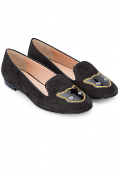 markus-lupfer-black-suede-patent-patch-slippers-black