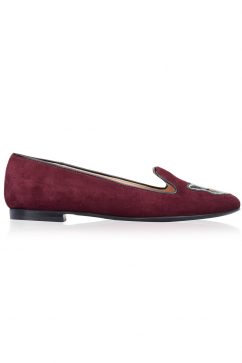 markus-lupfer-bordeaux-suede-patent-patch-slippers-burgundy