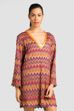 sema-gurisik-v-neck-cover-up-pink-purple-orange-1