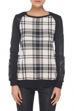 haute-hippie-plaid-sweatshirt-siyah-krem