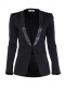 stefanel-leather-collar-tuxedo-blazer-black