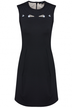 tibi-black-woven-dress-black