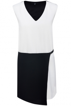 tibi-color-block-woven-dress-siyah-beyaz