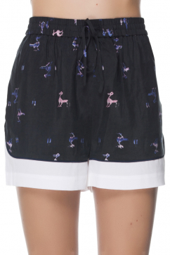 tibi-duck-patterned-shorts-black