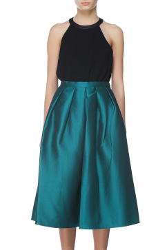 tibi-emer-woven-full-skirt-green