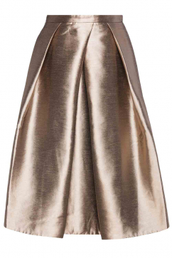 tibi-gold-woven-full-skirt-gold