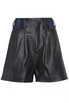tibi-leather-shorts-black