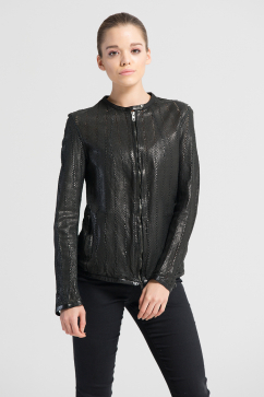 salvatore-santoro-crew-neck-leather-jacket-black