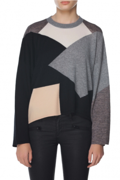 10-crosby-derek-lam-color-block-knitted-top-siyah-gri